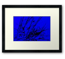 Strike Out Blue and Black Abstract Framed Print