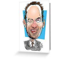 Portrait of Tom Hanks Greeting Card