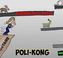 Poli-kong et Obama en caricature financier by Binary-Options