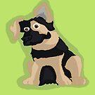 German Shepherd Puppy by TesniJade