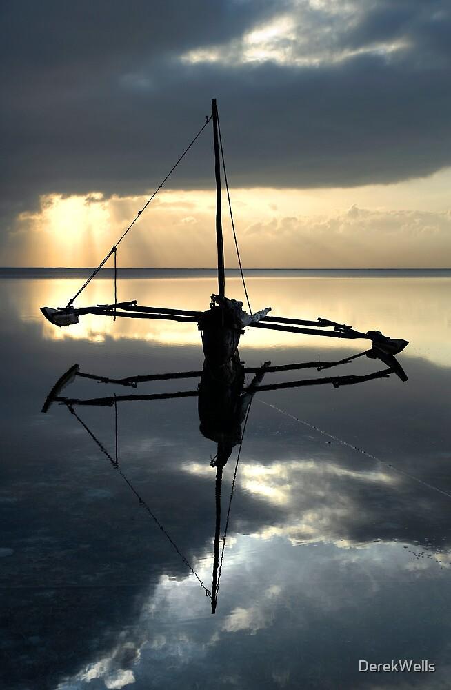 Boat on Indian Ocean Kenya by DerekWells