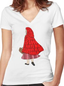 The Way Is Clear... Women's Fitted V-Neck T-Shirt