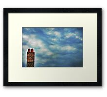 High Above The Chimney Top Framed Print