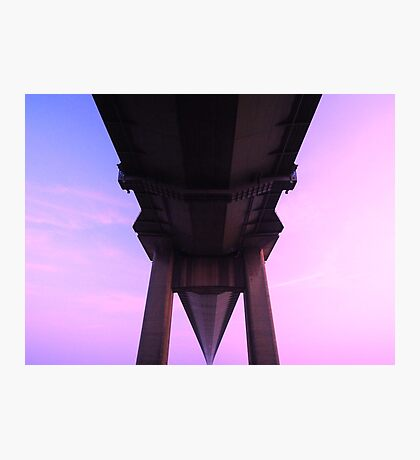 humber bridge from below Photographic Print