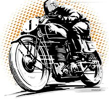 Vintage Motorcycle Racer by 454autoart