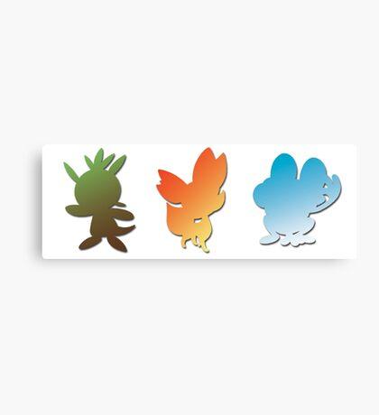 Pokemon X & Y Starters  Canvas Print
