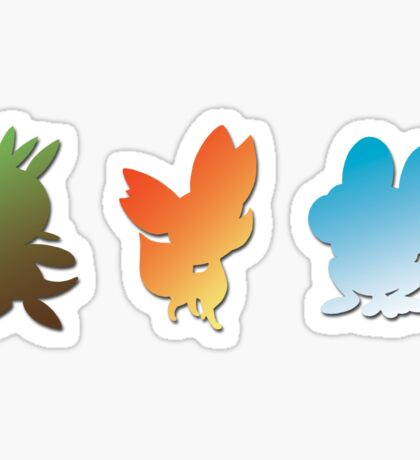 Pokemon X & Y Starters  Sticker