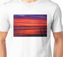 Fiery Sunset at Haskell's Beach Unisex T-Shirt
