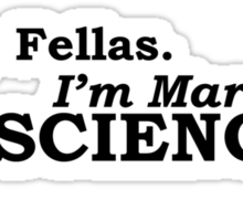 Married to Science Sticker
