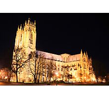 beverley minster floodlit Photographic Print