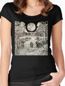 Surreal Landscape Women's Fitted Scoop T-Shirt