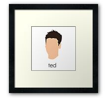 How I Met Your Mother - Ted Headshot Framed Print