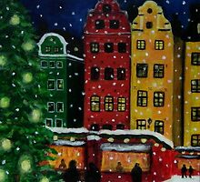 """""""Christmas market in Old Town,Stockholm"""" by Gabriella Nilsson"""