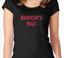 Accountant's Rule! - Accounting T-Shirt, Coffee Mug Women's Fitted Scoop T-Shirt