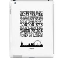 London Landmarks iPad Case/Skin