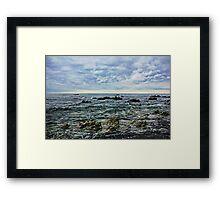 Sea,Stone,Sky Framed Print