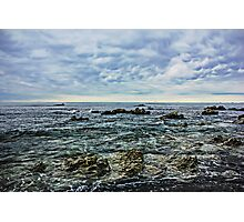 Sea,Stone,Sky Photographic Print