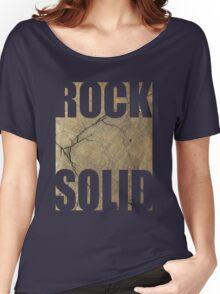 ROCK SOLID rock face Tee Women's Relaxed Fit T-Shirt