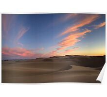 Sunset Over Oceano Dunes Poster