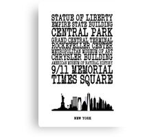 New York Landmarks Canvas Print