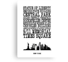 New York Landmarks Canvas Print