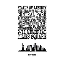 New York Landmarks Photographic Print