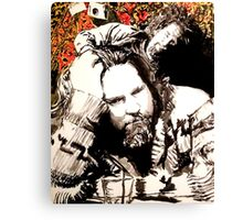 The Dude and his rug Canvas Print