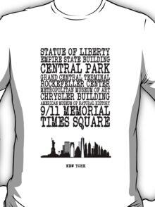 New York Landmarks T-Shirt