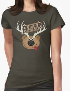 The Bear Deer Beer Womens Fitted T-Shirt
