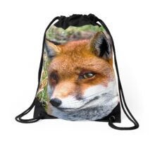 Thoughtful Fox Drawstring Bag