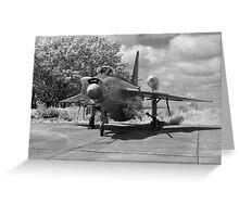 English Electric Lightning aircraft Greeting Card
