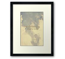 I wish for you  Framed Print