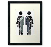 Human duality Framed Print