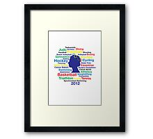 Queen Elizabeth London 2012 T-shirt Framed Print