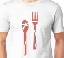 Abstract silverware design Unisex T-Shirt