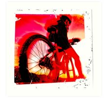 Mountain Biker Art Print