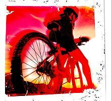 Mountain Biker Photographic Print