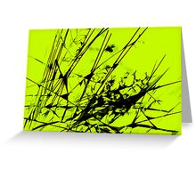 Strike Out Lime Green and Black Abstract Greeting Card