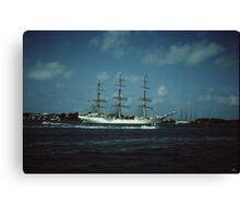 """ Tall Ships In Hamilton harbour Bermuda "" Canvas Print"
