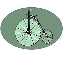 Vintage bike design Photographic Print