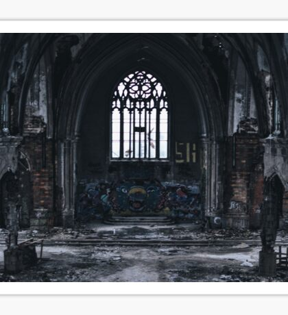 Detroit abandon church Sticker