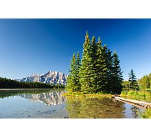 Mount Rundle from Cascade Ponds Photographic Print