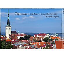 View over 1000 year old capital of Tallinn, Estonia Photographic Print