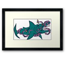 Internal Shark Fight Framed Print