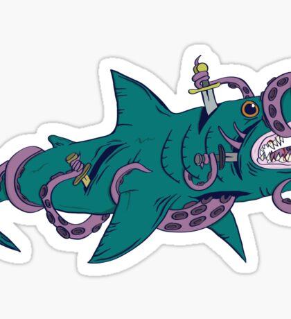 Internal Shark Fight Sticker