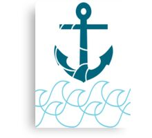 Anchor and sea Canvas Print