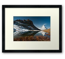 Riffelsee with Matterhorn Framed Print