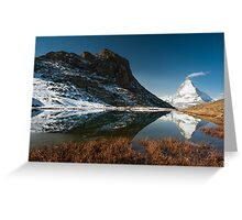 Riffelsee with Matterhorn Greeting Card