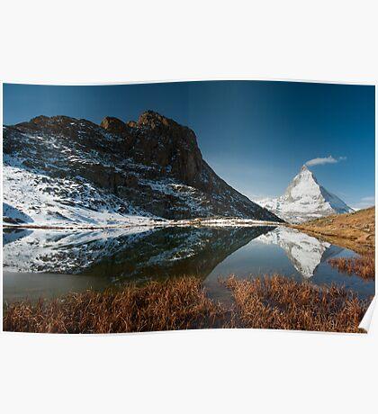 Riffelsee with Matterhorn Poster