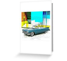 1960 Cadillac Convertible Greeting Card